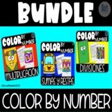 Color by Number - Bundle - Suma Resta Multiplicacion y Division