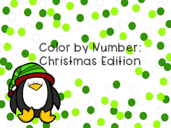 Color by Number: Christmas