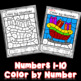 Color by Number Christmas   Christmas Numbers 1-10   Color by Code Christmas