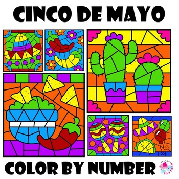 Color by Number Cinco de Mayo Set