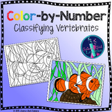 Classifying Vertebrates {Animals} Color by Number