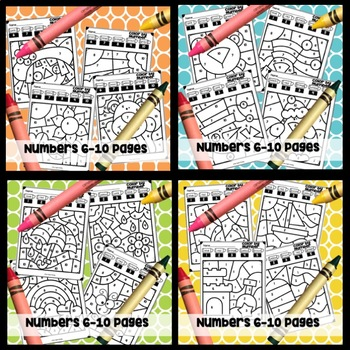 color by number coloring pages all year by the joyful journey tpt. Black Bedroom Furniture Sets. Home Design Ideas
