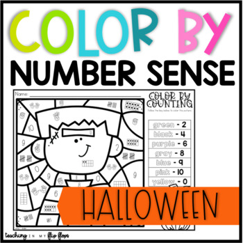Color by Number -- Counting, Number Sense 0-10 -- Halloween