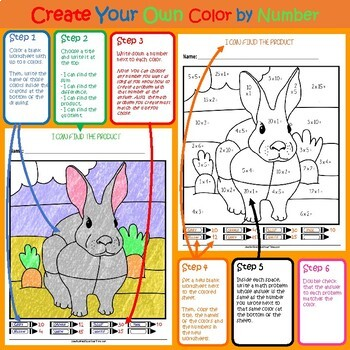 Color by Number - Desert Animals - 2nd Grade