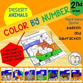 Color by Number - Desert Animals - 2nd Grade