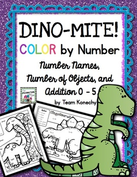 Color by Number - Dinosaurs