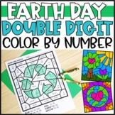 Earth Day Math Color by Code Pictures: Double Digit Addition & Subtraction