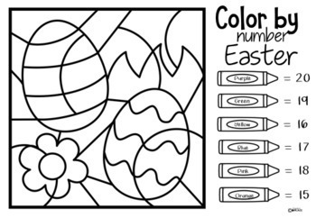 Color by Number Easter
