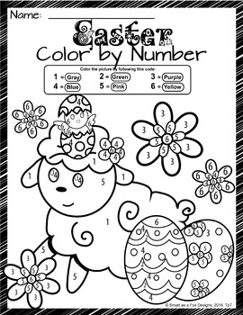 graphic regarding Color by Number Easter Printable titled Shade via Range Easter Worksheets - Well prepared in the direction of Print and Shift!