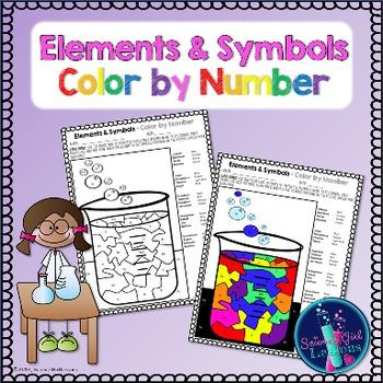 Chemical Elements - Color by Symbols