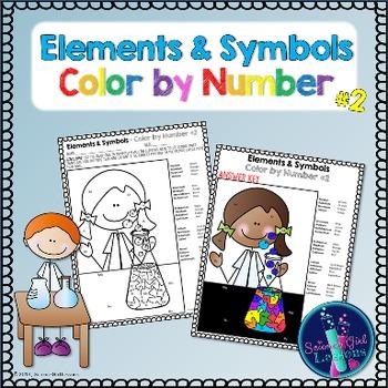 Chemical Elements - Color by Symbols #2