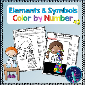 Chemical Elements - Color by Symbols #2