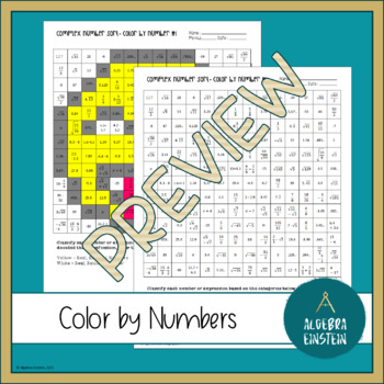 Real Numbers - Classifying Color by Number (3 versions)