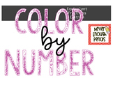 Equivalent Fractions Color By Number