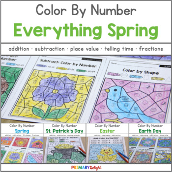 Color by Number: Everything Spring BUNDLE