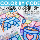 Color by Number FREEBIE - Winter Addition to 10