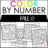 Color by Number Fall