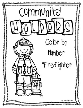 Color by Number - Firefighter