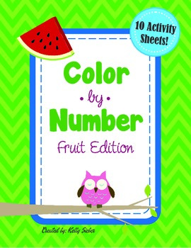 Color by Number - Fruit Edition - Count 1-10