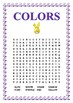 Color by Number Fun-  Easter Bunny-  Book Mark & Colors Word Search - K-2