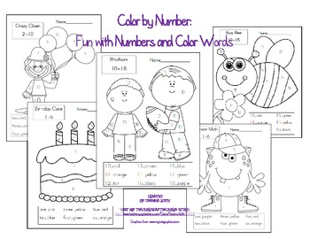 Color by Number: Fun with Numbers and Color Words