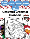 Color by Code .... Grammar Mosaic (Parts of Speech) - Christmas
