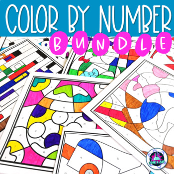Science Color-by-Number Activities Growing Bundle