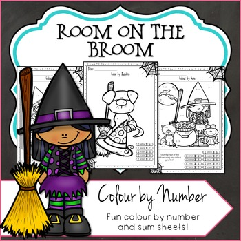 Color by Number, Halloween Room on the Broom Inspired