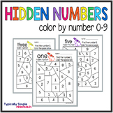 Color by Number: Hidden Numbers 0-9