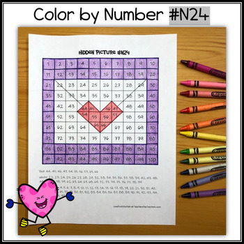 Color by Number – Hidden Picture #N24 – Mail