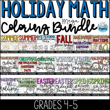 Holiday Math Color by Numbers