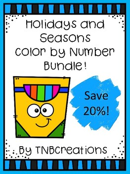 Color by Number Holidays and Seasons Bundle
