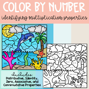 Color by Number- Identifying Multiplication Properties