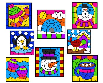 Color by Number January BUNDLE Winter, addition, multiplication, subtraction