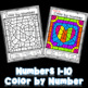 Color by Number Martin Luther King Jr.  | Numbers 1-10 Worksheets