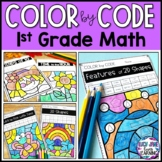 Color by Number Math Facts | 1st Grade | Seasonal Bundle