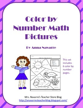 Color by Number Math Pictures
