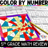 Math Review Worksheets | End of the Year Math Summer Packet | 5th Grade UPDATED