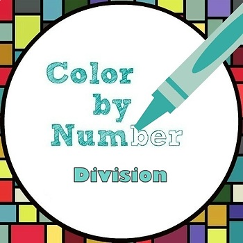 Math Color by Number - Whole Number Division