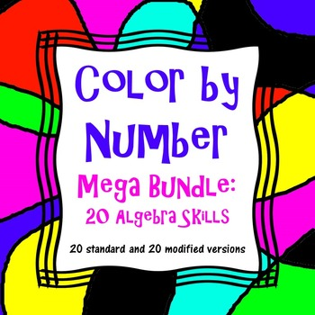 Color by Number Mega Bundle: 20 Standard and 20 Modified A