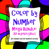 Color by Number Mega Bundle: 20 Standard and 20 Modified Activities