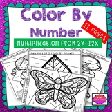 Color by Number Multiplication from 2x to 12x (Timestables)