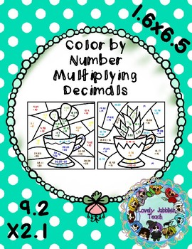 Color by Number: Multiplying Decimals