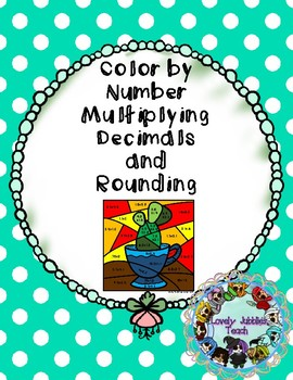 Color by Number: Multiplying and Rounding Decimals