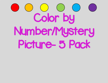 Color by Number/Mystery Picture- 50s and 100s charts