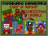 Color by Number Mystery Picture CHRISTMAS BUNDLE - Number Recognition