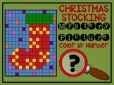 Color by Number Mystery Picture CHRISTMAS STOCKING - Number Recognition