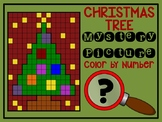 Color by Number Mystery Picture CHRISTMAS TREE - Number Recognition