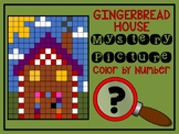 Color by Number Mystery Picture GINGERBREAD HOUSE - Number Recognition