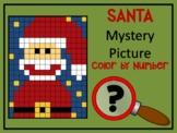 Color by Number Mystery Picture SANTA - Number Recognition